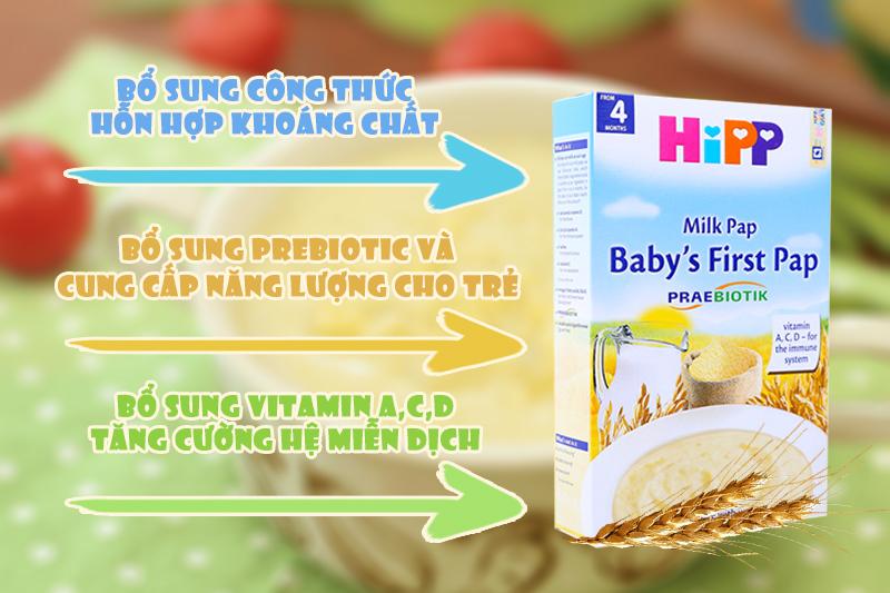 Cách pha bột ăn dặm Hipp với sữa