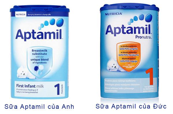 sữa aptamil của anh và của đức