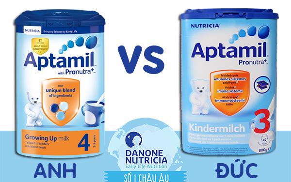 Sữa aptamil của Anh và Đức khác nhau thế nào? Loại nào tốt hơn?
