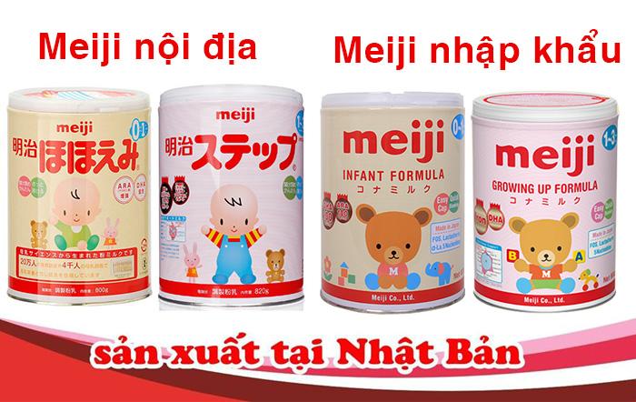 sữa meiji thật- giả