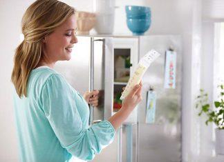 bảo quản sữa trong tủ lạnh