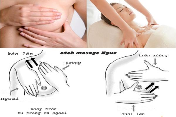 Massage ngực kích thích sữa mẹ về