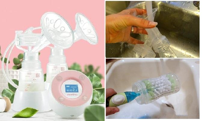 Cách vệ sinh máy hút sữa Unimom Forte, Allegro, Muniet, Mezzo đúng cách