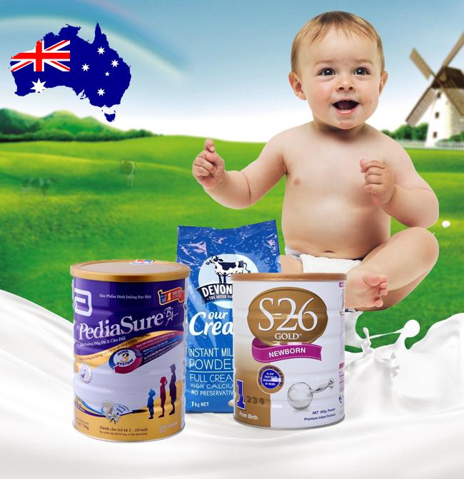 Top 3 sữa bột cho bé của Úc được các mẹ ưa chuộng nhất