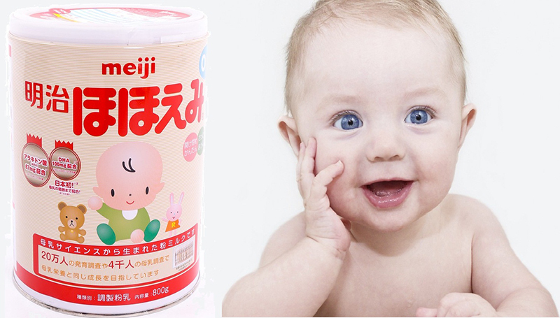 sữa meiji mát cho bé