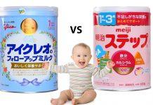 review sữa glico và meiji