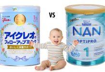 sữa nan và glico