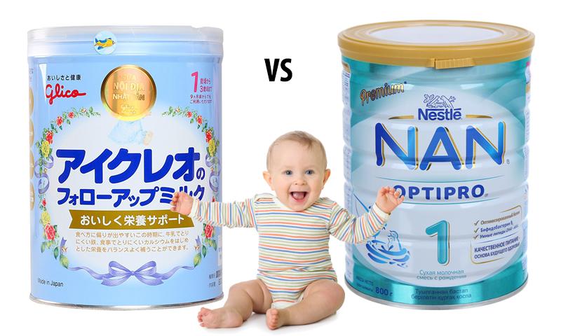 so sánh sữa nan và glico
