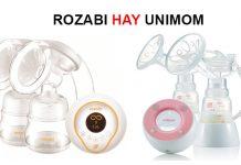 so sánh máy hút sữa Unimom và rozabi