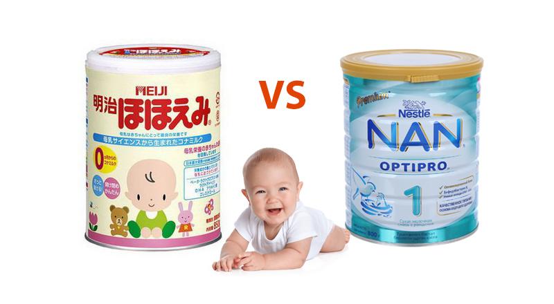[ Góc so sánh] Sữa Nan và Meiji loại nào tốt hơn?