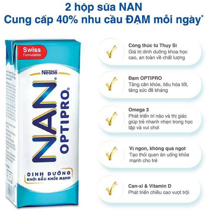 ưu điểm của sữa nan