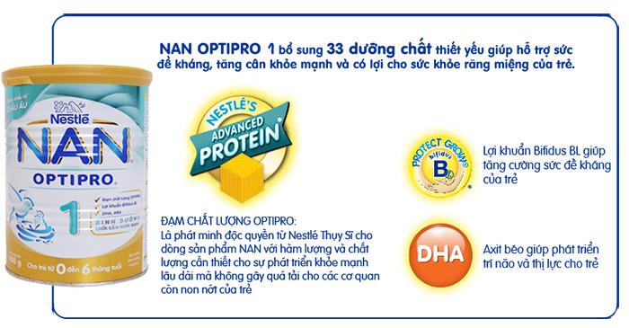 Sữa Nan Optipro giúp bé 1-3 tuổi tăng cân