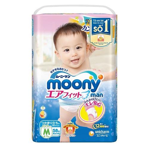 Nên dùng bỉm Goon hay Moony cho bé ?
