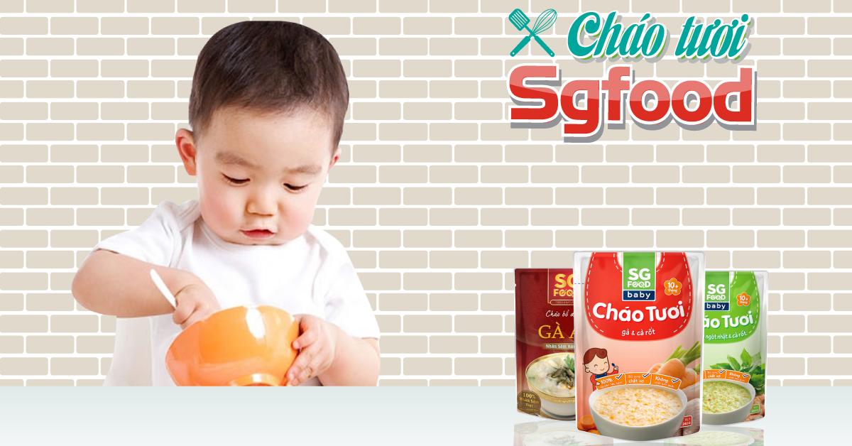 Cháo tươi ăn liền SG Food đóng hộp có tốt không?