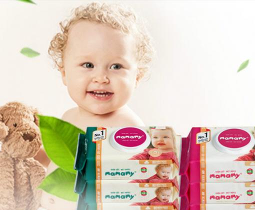 Khăn giấy ướt tốt cho da mặt của trẻ sơ sinh như thế nào?
