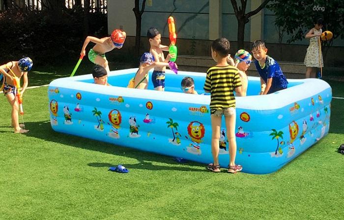 Cách sử dụng bể bơi phao