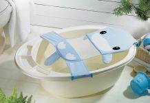 cách dùng lưới tắm cho bé