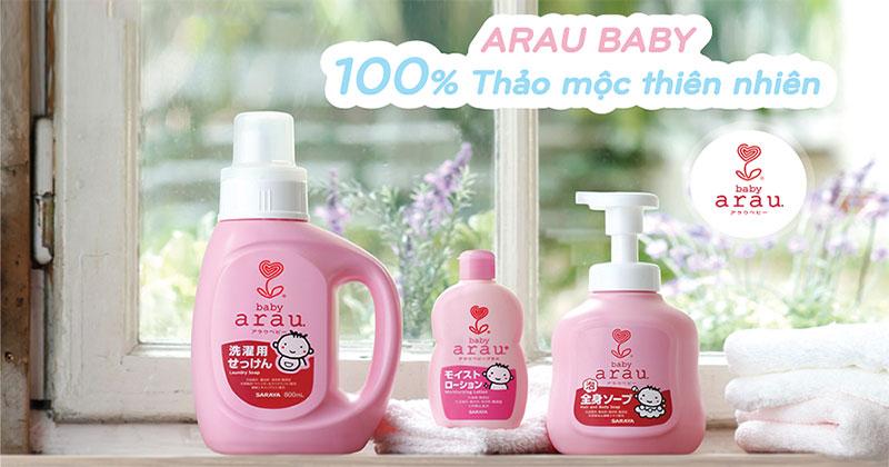 Review chi tiết nước giặt Arau Baby sử dụng có tốt không ?