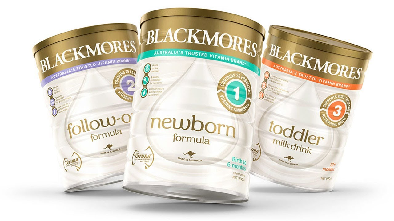 Hướng dẫn pha sữa Blackmores số 1, 2, 3 cực chi tiết