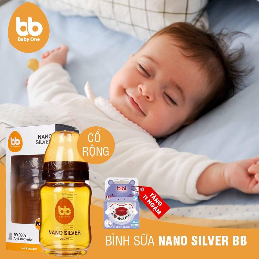 bình sữa nano silver