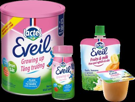Sản phẩm mang thương hiệu Lactel Eveil