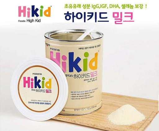 Hướng dẫn cách pha sữa Hikid Hàn Quốc đúng cách