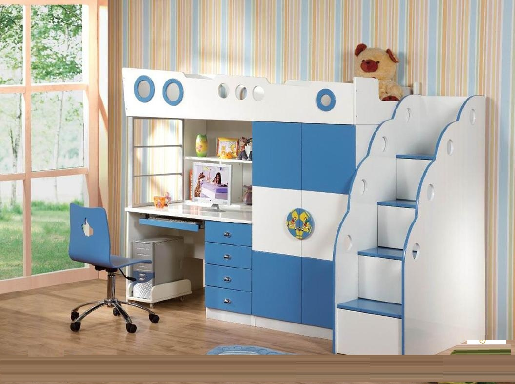 giường tầng cho bé có bàn học