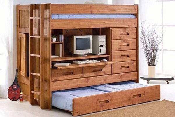 giường tầng có bàn học