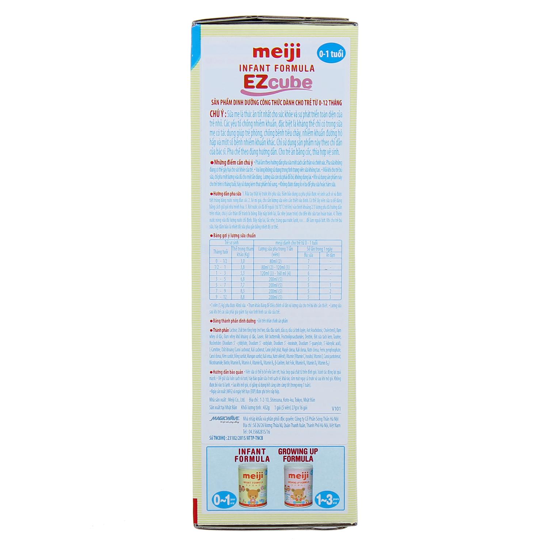 Cách pha sữa Meiji thanh số 0 Infant Formula Ezcube