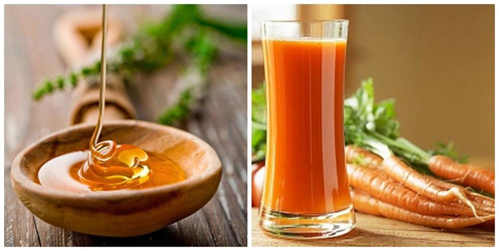 Trị mụn với cà rốt và mật ong