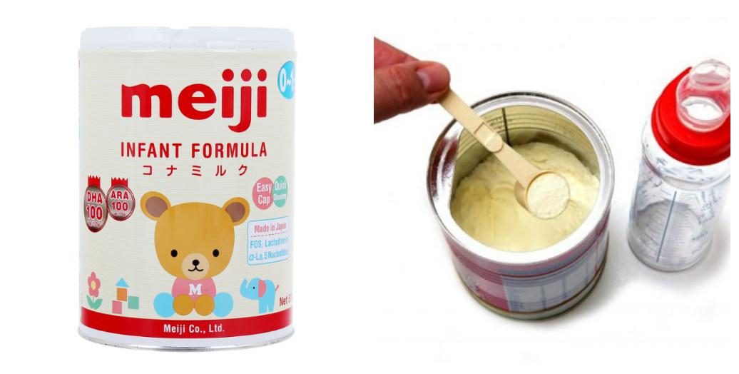 Hướng dẫn cách pha sữa Meiji số 0 Infant Formula 800g cho bé 0-1 tuổi