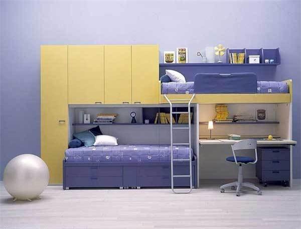 5 mẫu giường tầng có bàn học thông minh dành cho bé