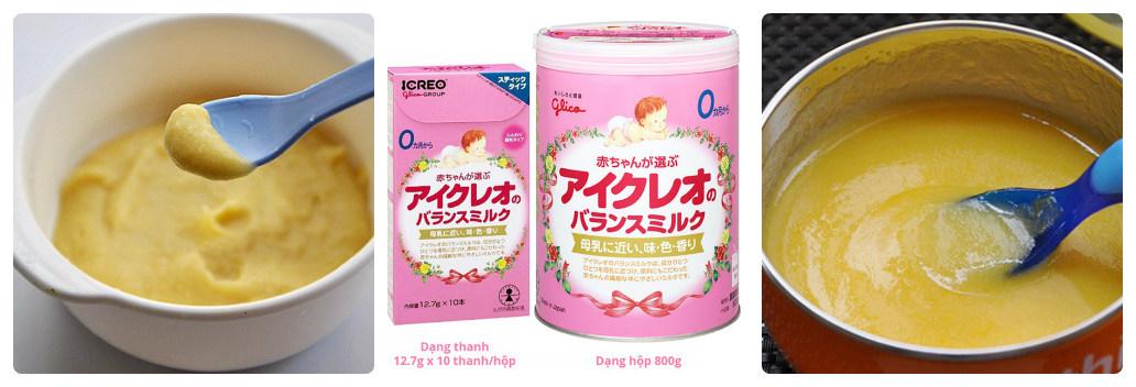 Nấu bột cho bé với sữa Glico Nhật, mẹ đã thử chưa?