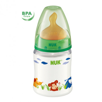 Bình sữa cổ rộng Nuk cao su 150ml - BPA free