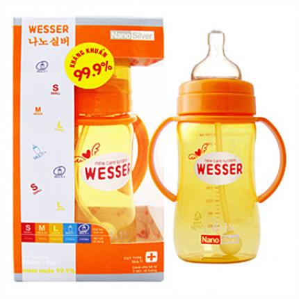 Bình sữa Wesser 260ml có ống hút 260ml