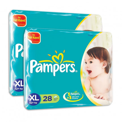 Bỉm Pampers XL 28 miếng (12+kg)