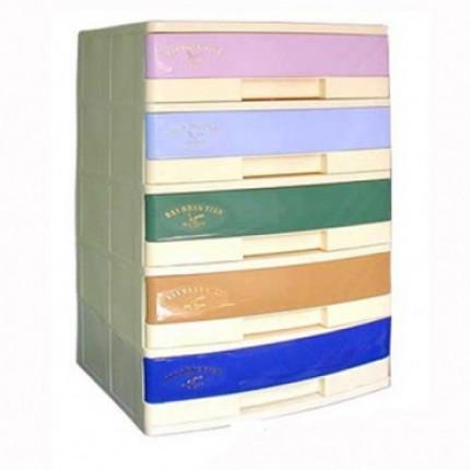 Tủ nhựa 5 ngăn, rộng 57cm, phối nhiều màu T187-5