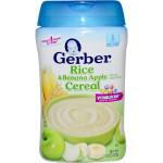 Bột ăn dặm Gerber vị gạo chuối táo 227g