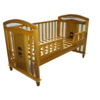 Giường cũi Teddy nội địa màu gỗ 80 x 145