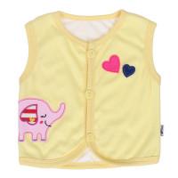 Áo gile cotton Kiza thêu chú voi màu vàng