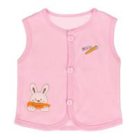 Áo gile cotton Kiza thêu thỏ màu hồng
