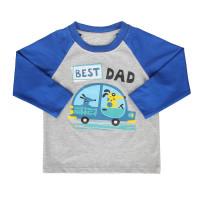 Áo tay dài bé trai in Best Dad Mamago (xanh biển)