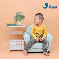 Áo tay dài bé trai in hình chim cách cụt Kiza (Vàng)