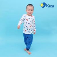 Áo tay dài bé trai in hình ô tô nhỏ Kiza
