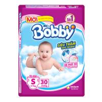 Bỉm - Tã dán Bobby size S - 30 miếng (cho bé 4 - 7kg)