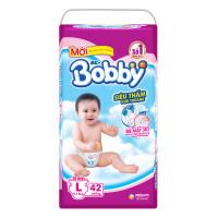 Bỉm - Tã dán Bobby size L - 42 miếng (cho bé 9 - 13kg)
