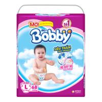 Bỉm - Tã dán Bobby size L - 68 miếng (cho bé 9 - 13kg)