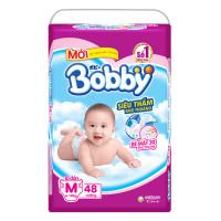 Bỉm - Tã dán Bobby size M - 48 miếng (cho bé 6 - 10kg)