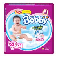 Bỉm - Tã dán Bobby size XL - 21 miếng (cho bé 12 - 17kg)