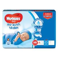 Bỉm - Tã dán Huggies size NB - 36 miếng (cho bé dưới 5 kg)